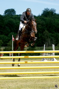 Danish Eventer Jes Anderson and Elvis who tested the lightweight trees for us Jumping in their Elevation.